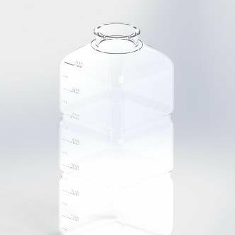 Drinking bottle 700 ml square Light blue