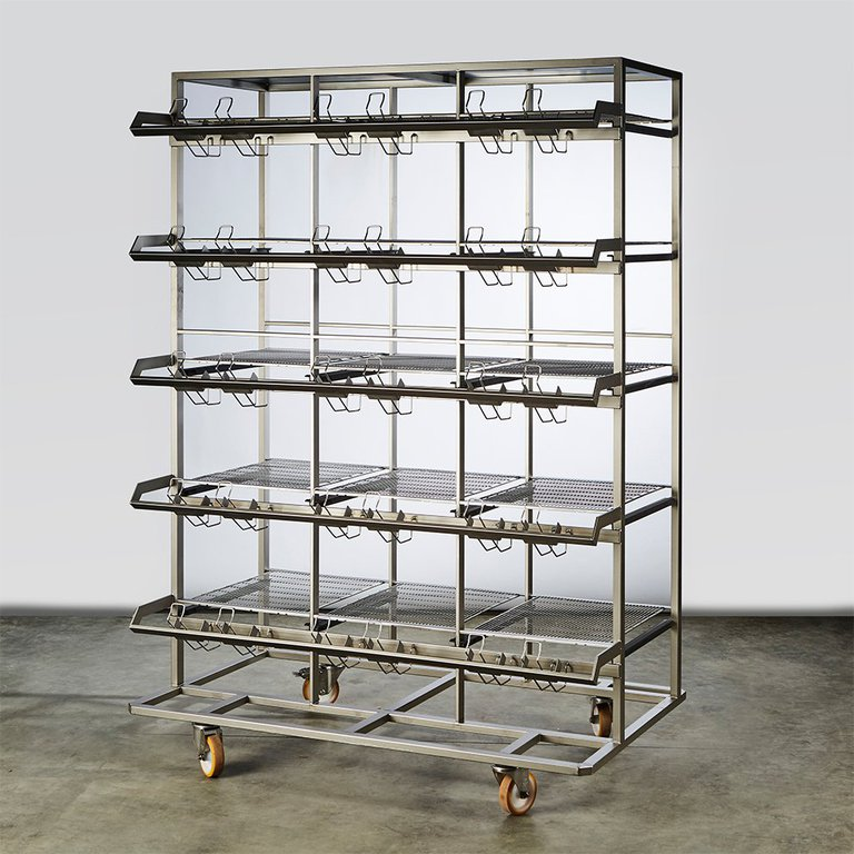 S/S rack for Tecniplast 1500 U cages